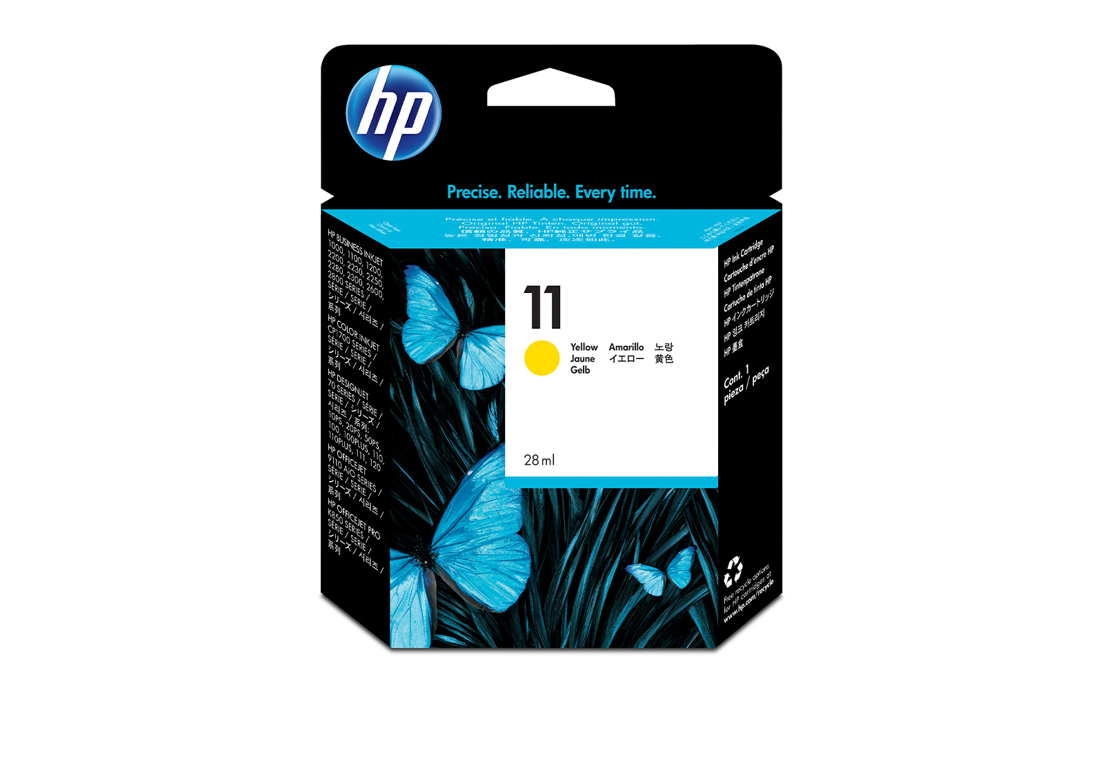 HP Business InkJet 1200 DTN 11 Yellow Ink Cartridge Original HP C4838A Nr