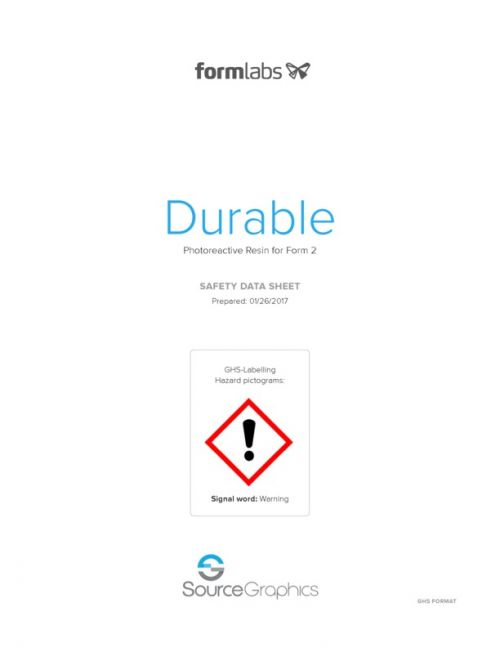 Formlabs Durable Resin Safety Data Sheet