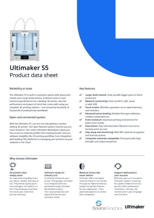 Ultimaker S5 Specifications