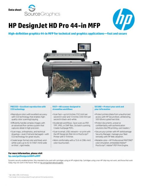 Source Graphics :: HD DesignJet HD Pro 44-in MFP