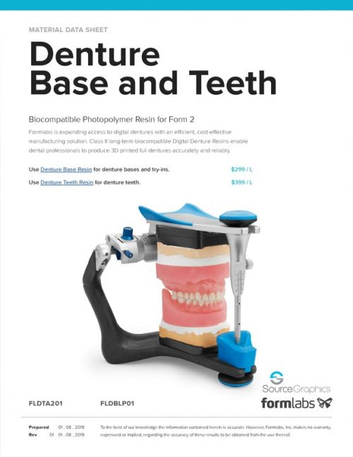 Source Graphics :: Formlabs Denture Teeth A2 Resin 1L