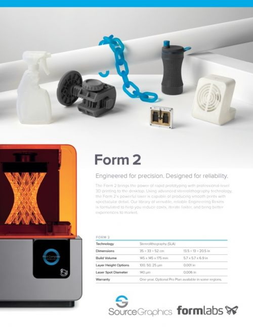 Formlabs Form 2 Specifications