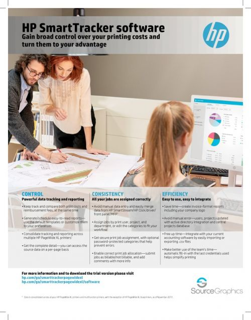 HP SmartTracker Software Specifications