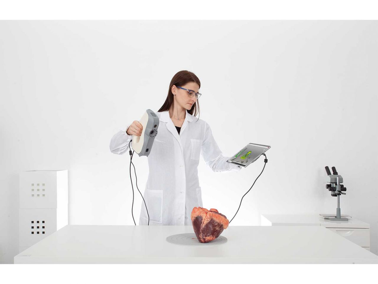 Scanning an animal heart with Artec Eva